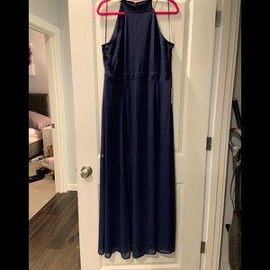 Express Navy Blue Maxi Dress Gown